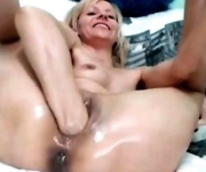 Blonde milf with big pussy