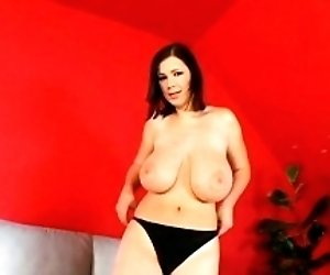 Wicked tits teasing with a...