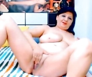 Busty Milf Rubs Her Pussy...
